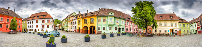 Sighisoara Citadel Square Royalty Free Stock Photos