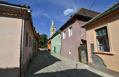 Sighisoara citadel street Royalty Free Stock Photo