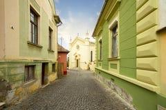 Sighisoara city street, Transylvania, Romania royalty free stock image