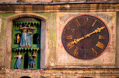 Sighisoara - The Clock Tower Royalty Free Stock Images