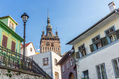 Sighisoara Clock Tower. In the morning Stock Photo
