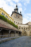 Sighisoara Clock Tower and Old Women's Passage Royalty Free Stock Photo