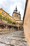 Sighisoara Clock Tower Royalty Free Stock Photos
