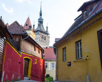 Sighisoara Clock Tower Royalty Free Stock Photo