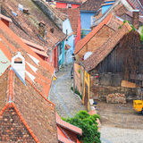 Sighisoara from the clock tower Royalty Free Stock Photos