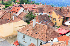 Sighisoara from the clock tower Royalty Free Stock Photo