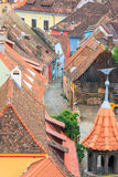 Sighisoara from the clock tower Royalty Free Stock Photography
