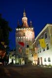 Sighisoara - der Glockenturm stockfotografie