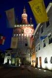 Sighisoara - der Glockenturm stockbild