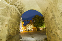 Sighisoara at dusk Stock Images
