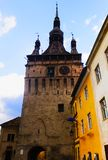 Sighisoara-Glockenturm lizenzfreies stockfoto
