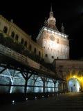 Sighisoara hermoso en la noche imágenes de archivo libres de regalías