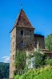 Sighisoara i Rumänien Arkivfoto
