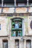 Sighisoara klockatorn i Rumänien, Transylvania fotografering för bildbyråer