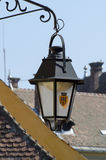 Sighisoara - light lamp in the street of old city Royalty Free Stock Photos