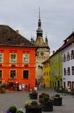 Sighisoara - the main square. Stock Image