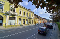 Sighisoara main street Stock Photography
