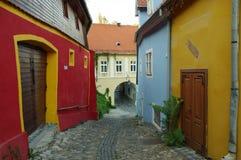 Sighisoara medeltida stärkt stad i Transylvania Arkivfoto