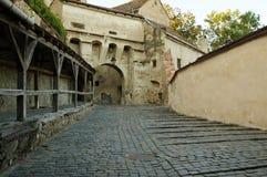 Sighisoara medeltida stärkt stad i Transylvania Royaltyfria Foton