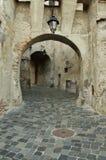 Sighisoara medeltida stärkt stad i Transylvania Fotografering för Bildbyråer