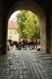 Sighisoara medeltida stärkt stad i Transylvania Royaltyfri Fotografi