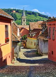 Sighisoara medieval city Stock Photos