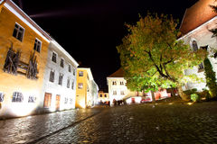 Sighisoara Medieval Fortress Stock Photo