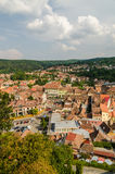 Sighisoara Medieval Fortress Aerial View Stock Image
