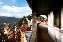 Sighisoara Medieval Fortress, Transylvania, Romani Stock Images