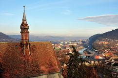 Sighisoara - medieval Romania's city Royalty Free Stock Photography