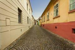 Sighisoara miasta ulica, Transylvania, Rumunia zdjęcia royalty free