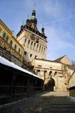 Sighisoara - middeleeuwse stad stock fotografie