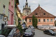 Sighisoara, mittelalterliche verstärkte Stadt in Siebenbürgen Lizenzfreie Stockfotos