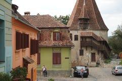 Sighisoara, mittelalterliche verstärkte Stadt in Siebenbürgen Stockfotos