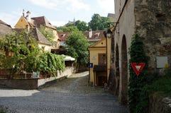 Sighisoara, mittelalterliche verstärkte Stadt in Siebenbürgen Stockbilder