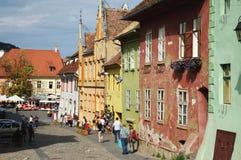 Sighisoara, mittelalterliche verstärkte Stadt in Siebenbürgen Lizenzfreie Stockbilder