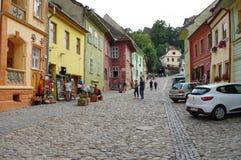 Sighisoara, mittelalterliche verstärkte Stadt in Siebenbürgen Lizenzfreie Stockfotografie