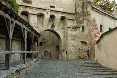 Sighisoara, mittelalterliche verstärkte Stadt in Siebenbürgen Stockbild