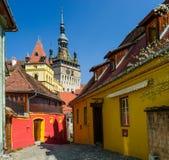 Sighisoara nella Transilvania, Romania Immagini Stock