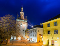 Sighisoara, at night Royalty Free Stock Photography