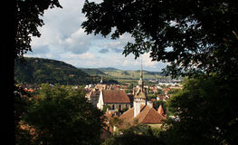 Sighisoara overview Stock Photos