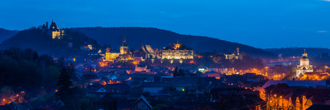 Sighisoara panorama Obrazy Stock