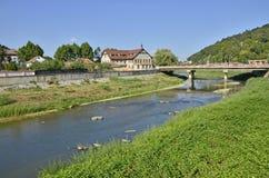 Sighisoara river Stock Image