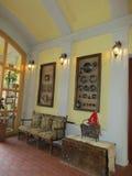 Sighisoara, Roemenië, 24 juni 2016: Het binnenland van het pensioenrestaurant van de Middeleeuwse Stad Sighisoara in Roemenië Stock Afbeeldingen