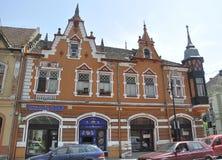 Sighisoara, Roemenië, 24 juni 2016: Historische Huizen van de Middeleeuwse Stad Sighisoara in Roemenië Stock Fotografie