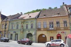 Sighisoara, Roemenië, 24 juni 2016: Historische Huizen van de Middeleeuwse Stad Sighisoara in Roemenië Royalty-vrije Stock Afbeelding