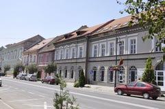 Sighisoara, Roemenië, 24 juni 2016: Historische Huizen van de Middeleeuwse Stad Sighisoara in Roemenië Stock Foto's