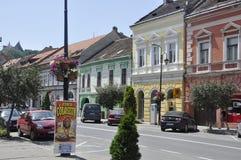 Sighisoara, Roemenië, 24 juni 2016: Historische Huizen van de Middeleeuwse Stad Sighisoara in Roemenië Royalty-vrije Stock Fotografie