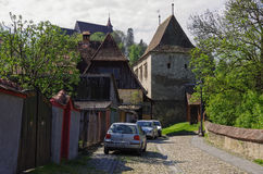 Sighisoara, Romania - May 2, 2014: Furrier's tower (Turnul Cojoc Royalty Free Stock Photography