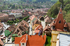 Sighisoara in Romania. View from the Clock Tower - Sighisoara - Romania Stock Images